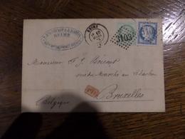 25.01.18_ LAC De Reims Pour Bruxelle - Poststempel (Briefe)