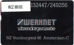 Telefoonkaart  LANDIS&GYR  NEDERLAND * WERKNET RCZ-001.03 * A'DAM NZ VOORBURGWAL * ONGEBRUIKT * OPLAGE 450 - Nederland