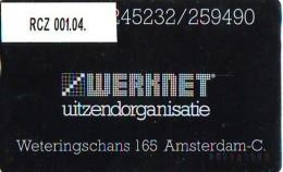 Telefoonkaart  LANDIS&GYR  NEDERLAND * WERKNET RCZ-001.04 * A'DAM WETERINGSCHANS * ONGEBRUIKT * OPLAGE 350 - Privé