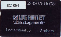 Telefoonkaart  LANDIS&GYR  NEDERLAND * WERKNET RCZ-001.08 * ARNHEM * ONGEBRUIKT * OPLAGE 250 - Privé
