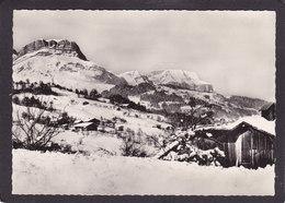 74  CORDON  Le Village Et La Chaîne Des Aravis  En Hiver  Vers 1950  10x15 - Francia