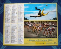 CALENDRIER Dpt 60 -OISE -almanach Du Facteur1996 -LA POSTE  Football- Tour De FRANCE 94-patinage-France-Angleterre Rugby - Grand Format : 1991-00