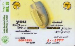 TARJETA TELEFONICA DE EMIRATOS ARABES UNIDOS. PREPAGO. (165). - Emiratos Arábes Unidos