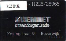 Telefoonkaart  LANDIS&GYR  NEDERLAND * WERKNET RCZ-001.12 * BEVERWIJK * ONGEBRUIKT * OPLAGE 150 - Privé
