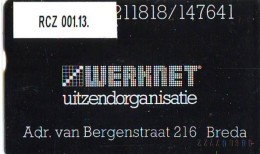 Telefoonkaart  LANDIS&GYR  NEDERLAND * WERKNET RCZ-001.13 * BREDA * ONGEBRUIKT * OPLAGE 400 - Privé