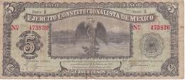 BILLETE DE MEXICO DE 5 PESOS DEL AÑO 1914 EJERCITO CONSTITUCIONALISTA (BANKNOTE) - México
