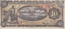 BILLETE DE MEXICO DE 10 PESOS DEL AÑO 1914 GOBIERNO PROVISIONAL (BANKNOTE) - México