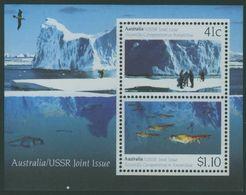 AAT 1990 Australia USSR Antarctic Cooperation Miniature Sheet Mint Neuf  MNH - Ongebruikt