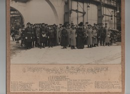 KING GEORGE FIFTH QUEEN MARY PHOTOGRAPH WORLD WAR ONE FACTORY - Historical Documents