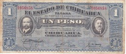 BILLETE DE MEXICO DE 1 PESO DEL AÑO 1915 ESTADO DE CHIHUAHUA (BANKNOTE) - México