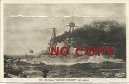 Regia Nave Giulio Cesare Nei Marosi. Spezia 21.1.1931. - Guerra