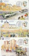 Carte Maximum MonTimbraMoi  X 5 Centenaire Automobile Club Des Deux Sèvres 2011 Avec Signature Illustrateur Irolla - Automobilismo