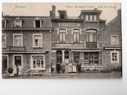3 - POULSEUR - Place Puissant * Restaurant Bouvy - Debras*magasin De Chaussures*charcuterie*café* - Comblain-au-Pont