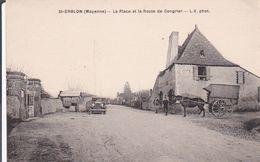 SAINT ERBLON La Place Et La Route De Congrier - France