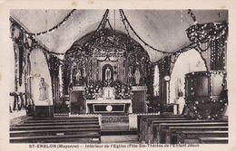 SAINT ERBLON  Intérieur De L'Eglise Et Le Presbytère - Autres Communes