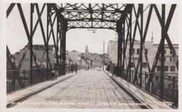 Rio Negro (Parana) Brazil, Avenida Bridge Over Rio Negro, Rua 15 De Novembro Street, C1950s Vintage Real Photo Postcard - Autres