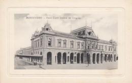 Monetvideo Uruguay, Uruguay Central Railroad Station, Architecture, C1910s Vintage Postcard - Uruguay