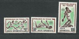 TCHAD  Scott 83-84, C8 Yvert 80-81, PA8 (3) **  Cote 6,50$ 1962 - Tchad (1960-...)