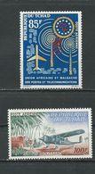 TCHAD  Scott C9, C12 Yvert PA9, PA12 (2) **  Cote 6,50$ 1963 - Tchad (1960-...)