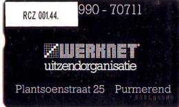TELEFOONKAART LANDIS&GYR  NEDERLAND * WERKNET RCZ-001.44 * PURMERNED * ONGEBRUIKT * OPLAGE 100 - Privé