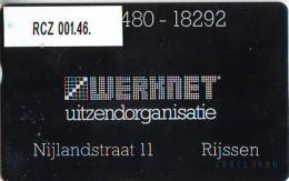 TELEFOONKAART LANDIS&GYR  NEDERLAND * WERKNET RCZ-001.46 * RIJSSEN * ONGEBRUIKT * OPLAGE 150 - Privé