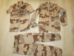 Veste + Pantalon + Chemisette De Treillis 1ère Guerre Du Golfe Daté:1990 - Uniformes