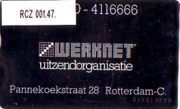 TELEFOONKAART LANDIS&GYR  NEDERLAND * WERKNET RCZ-001.47 * R'DAM PANNEKOEKSTRAAT * ONGEBRUIKT * OPLAGE 300 - Privé