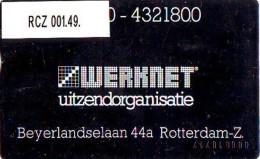 TELEFOONKAART LANDIS&GYR  NEDERLAND * WERKNET RCZ-001.49 * R'DAM BEYERLANDSELAAN OPLAGE 300 - Privé