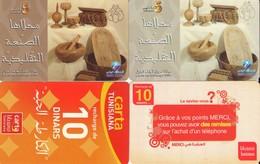 LOTE DE 4 TARJETAS TELEFONICAS DE TUNEZ (PREPAGO) (084) - Tunisia