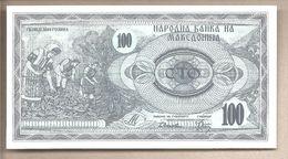 Macedonia - Banconota Non Circolata FdS Da 100 Denari P4a - 1992 - Macédoine