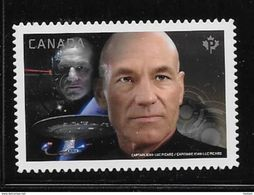 CANADA 2017, #2987i,   MNH STAR TREK Second Edition  Capitaine Picard & Locutus De Borg DIE CUT From Quartely Pack - Carnets