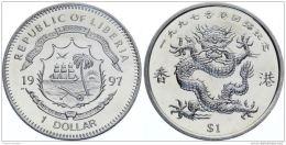 Liberia. 1 Dollar. Dragon. UNC. 1997. Big Coin - Liberia