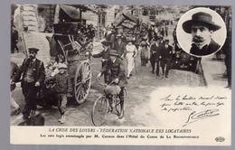 PARIS  - LA CRISE DES LOYERS - Les Sans Logis Dans L' Hôtel Du Comte De La Rochefoucauld - France