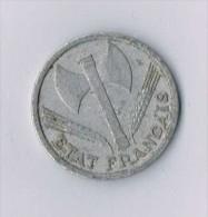 1 Franc Francisque,1942 Paris  - France - France