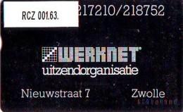 TELEFOONKAART LANDIS&GYR  NEDERLAND * WERKNET RCZ-001.63 * ZWOLLE * OPLAGE 200 - Privé