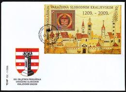Croatia Zagreb 2009 / 800th Ann Of Declaration Of Free Royal City Varazdin / Church / FDC - Croatia
