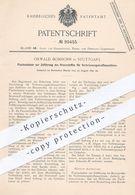 Original Patent - Oswald Bomborn , Stuttgart , 1897 , Flachschieber Für Verbrennungskraftmaschinen | Brennstoff , Motor - Historische Dokumente