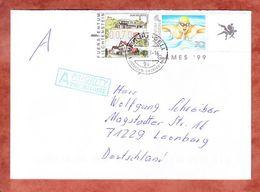 Brief, MiF ATM Balzers U.a., Ruggell Nach Leonberg 2013 (45755) - Liechtenstein