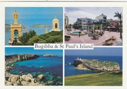 POSTCARDS OF MALTA / BUGIBBA AND ST PAULS ISLAND - Malta