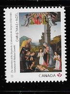 2017, CANADA,  CHRISTMAS :   ADORATION Of The SHEPERDS,  DIE CUT  SINGLE FROM BOOKLET - Carnets
