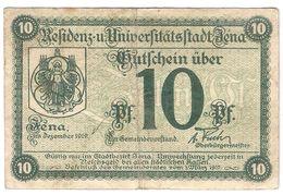 Deutschland Notgeld 10 Pfennig Tieste3270.35.15 JENA /108M/ - Lokale Ausgaben