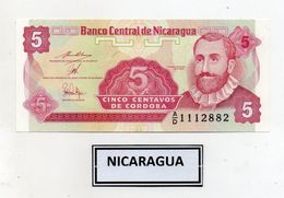 NICARAGUA - Banconota Da 5 Centavos - Nuova - (FDC7818) - Nicaragua