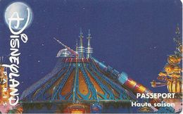 PASS-DISNEYLANDPARIS -1996-SPACE MOUNTAIN-ADULTE-V° N° S 049609 HORIZONTAL En HAUT-TBE- - Pasaportes Disney