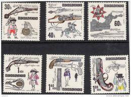 CZECHOSLOVAKIA 1969 Pistols Complete Set Of 6 Values Mint - Czechoslovakia