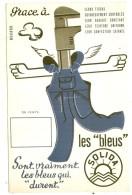 ---- BUVARD ---   Les Bleus SOLIDA* Excellent état - Textile & Vestimentaire