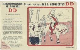 ---- BUVARD ---   Ralievons A Mon Panache Blanc - Concours Des Buvards DD Bas Et Soquettes TTB - Textile & Vestimentaire