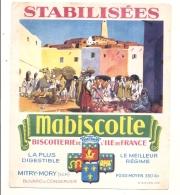---- BUVARD --- MABISCOTTE  Mitry Mory Stabilisées TB Quelques Plis - Bizcochos