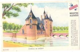 ---- BUVARD --- Petit Buvard BISCOTTES GREGOIRE  Allégées -  Château De Lassay TTB - Bizcochos