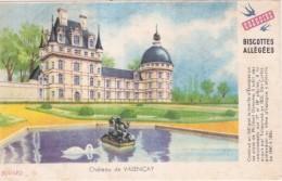 ---- BUVARD --- Petit Buvard BISCOTTES GREGOIRE  Allégées -  Château De Valançay - Petites Salissures TB - Biscottes