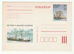 1985 HUNGARY Illus PADDLE STEAMER Postal STATIONERY CARD   Stamps Cover Ship - Postal Stationery
